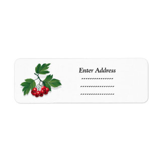 Christmas berries address label Sticker