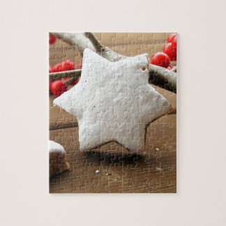 Christmas berries and zimtstern jigsaw puzzle