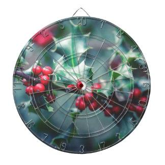 Christmas berries dartboard