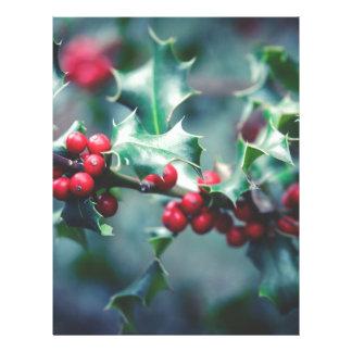 Christmas berries letterhead