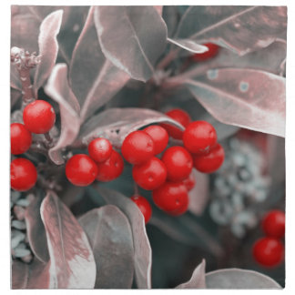 Christmas berries napkin