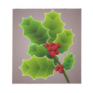 christmas berries notepad