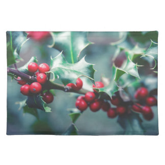 Christmas berries placemat