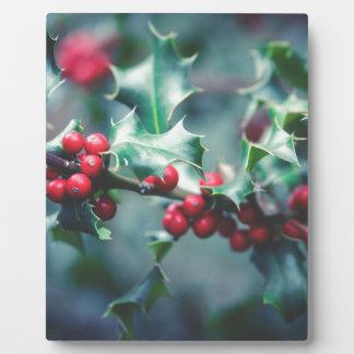 Christmas berries plaque