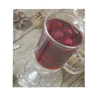 Christmas berries punch notepad