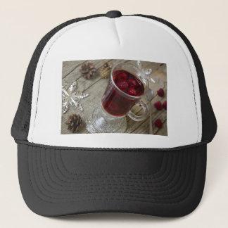 Christmas berries punch trucker hat