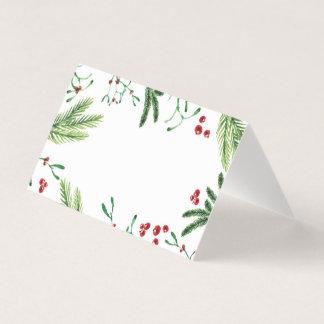 Christmas Berry Tent Card, Escort Card