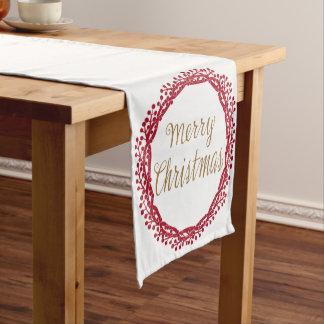Christmas berry wreath table runner