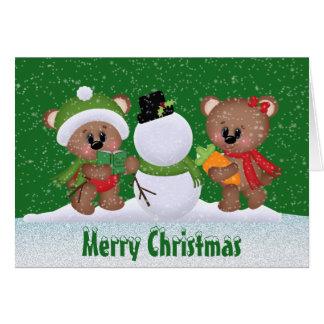 Christmas Best Friends Bear greeting card