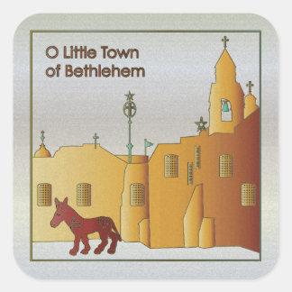 Christmas Bethlehem Square Sticker