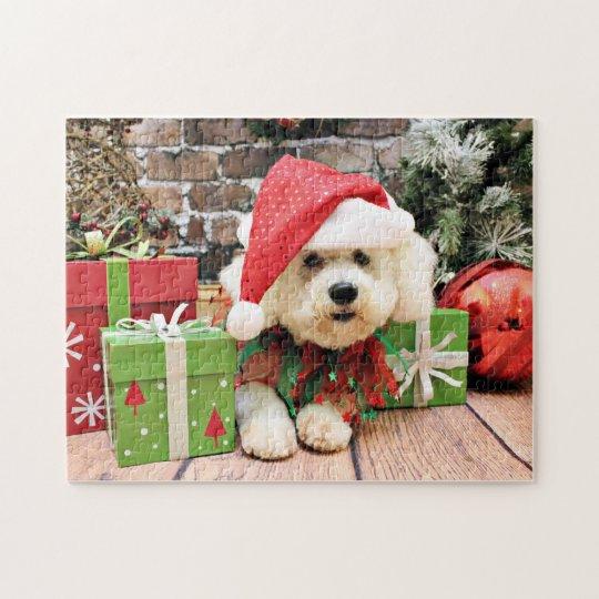 Christmas - Bichon Frise - Daisy Jigsaw Puzzle