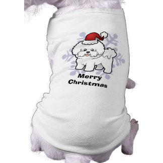 Christmas Bichon Frise Doggie Tee Shirt