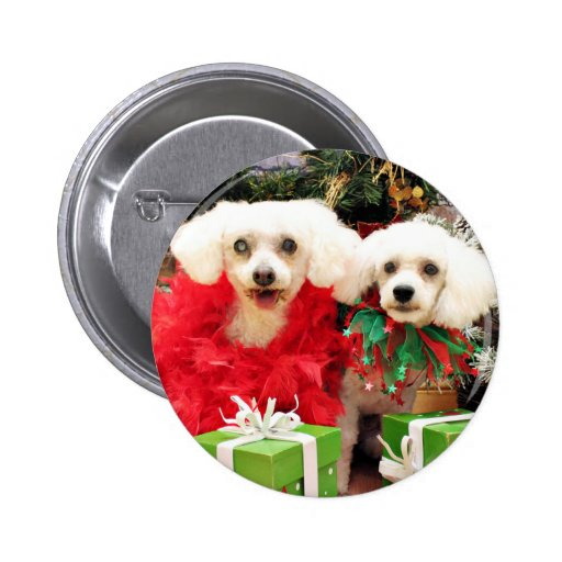 Christmas - Bichon Frise - Satchel and P.J. Pin