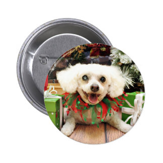 Christmas - Bichon Frise - Satchel Buttons