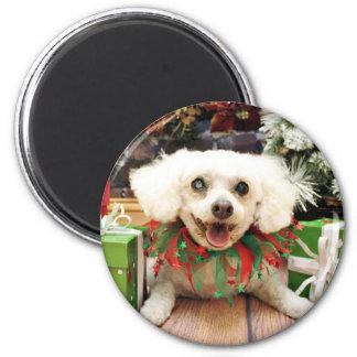 Christmas - Bichon Frise - Satchel Magnet