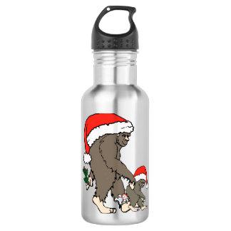 Christmas Bigfoot Family 532 Ml Water Bottle