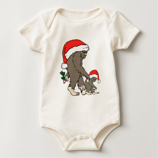 Christmas Bigfoot Family Baby Bodysuit