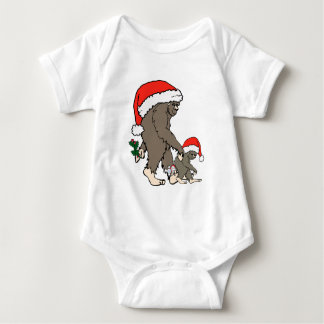 Christmas Bigfoot Family Baby Bodysuit