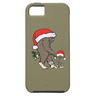 Christmas Bigfoot Family Case For The iPhone 5