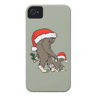 Christmas Bigfoot Family Case-Mate iPhone 4 Cases