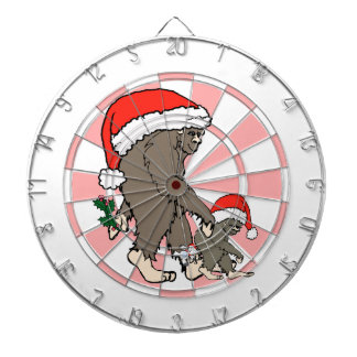 Christmas Bigfoot Family Dartboard