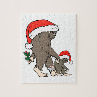 Christmas Bigfoot Family Jigsaw Puzzle