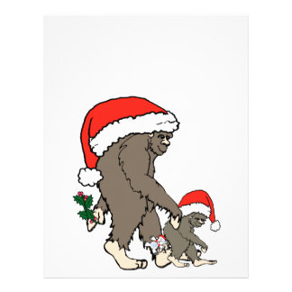 Christmas Bigfoot Family Letterhead