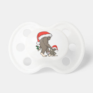 Christmas Bigfoot Family Pacifier