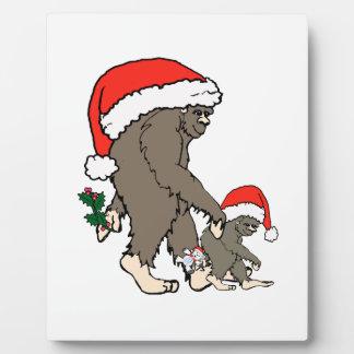 Christmas Bigfoot Family Plaque