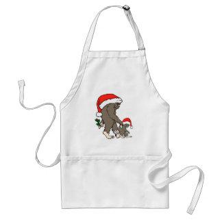 Christmas Bigfoot Family Standard Apron