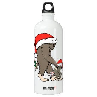 Christmas Bigfoot Family Water Bottle