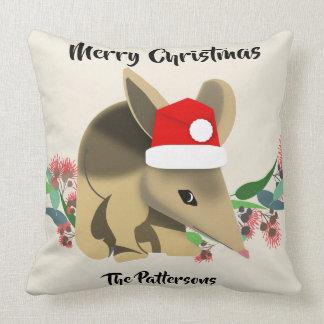 Christmas Bilby Throw Pillow
