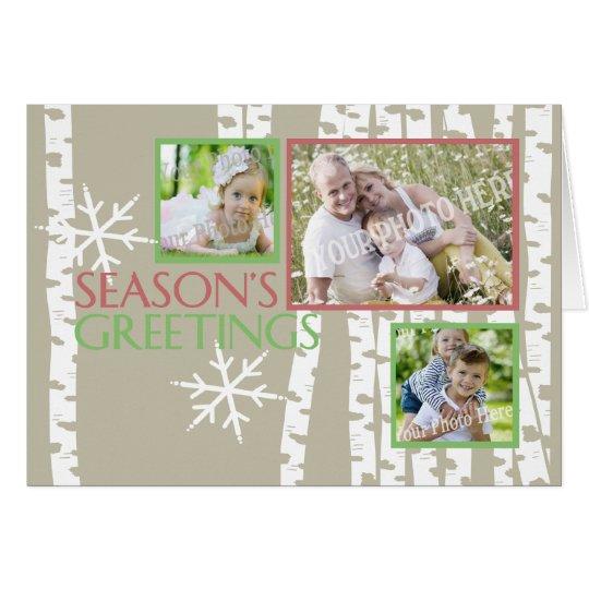 Christmas Birch Trees Photo Card