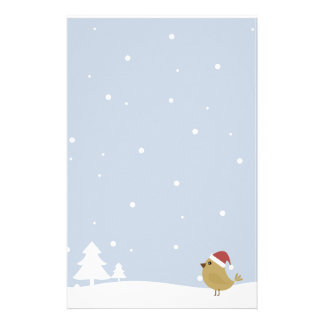Christmas Bird Custom Stationery
