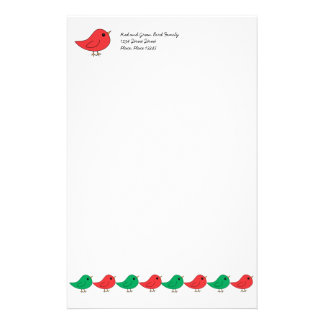 Christmas Bird Family Stationery