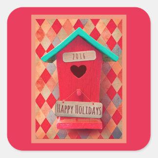 Christmas Bird House stickers