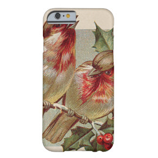 Christmas Bird Songbird Holly Snow Barely There iPhone 6 Case