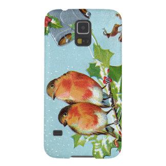 Christmas Bird Songbird Holly Snow Reindeer Bell Galaxy S5 Covers