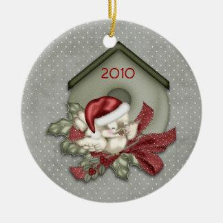 Christmas Birdhouse Ornament