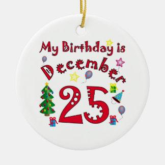 Christmas Birthday Ceramic Ornament