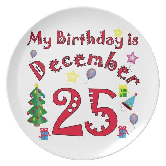 Christmas Birthday Plate