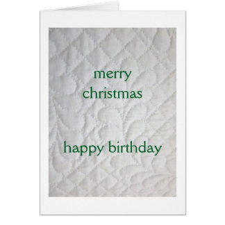 Christmas Birthday Quilted Card