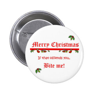 Christmas Bite Me 2 Inch Round Button