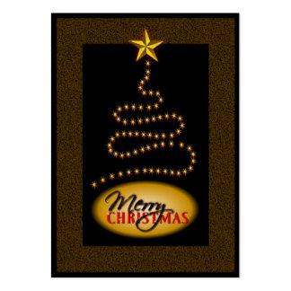 Christmas Black and Gold Gift Tags Pack Of Chubby Business Cards