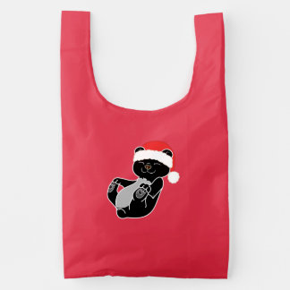 Christmas Black Bear with Red Santa Hat