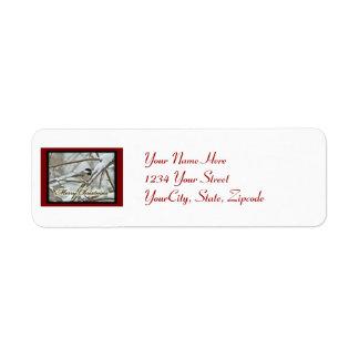 Christmas Black Capped Chickadee Label Return Address Label