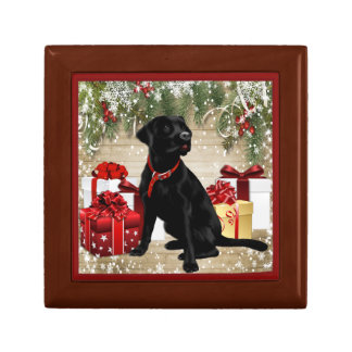 CHRISTMAS BLACK LABRADOR GIFT BOX