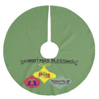 Christmas Blessing Brushed Polyester Tree Skirt