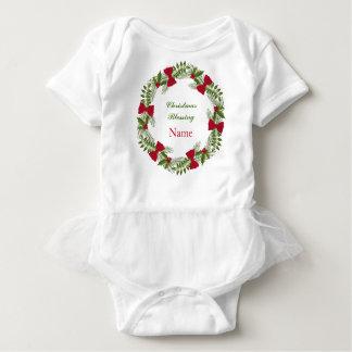 Christmas Blessing Custom Baby Tutu Bodysuit