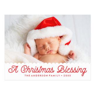 Christmas Blessing | Holiday Photo Postcard